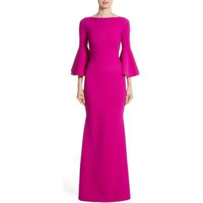 Chiara Boni La Petite Robe Iva Bell Sleeve Evening Dress, 8 IT - Pink