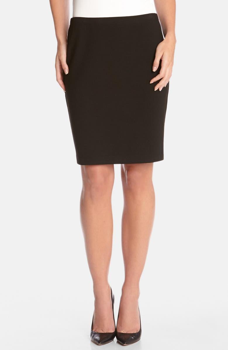 KAREN KANE 'Urban' Ponte Knit Pencil Skirt, Main, color, 001