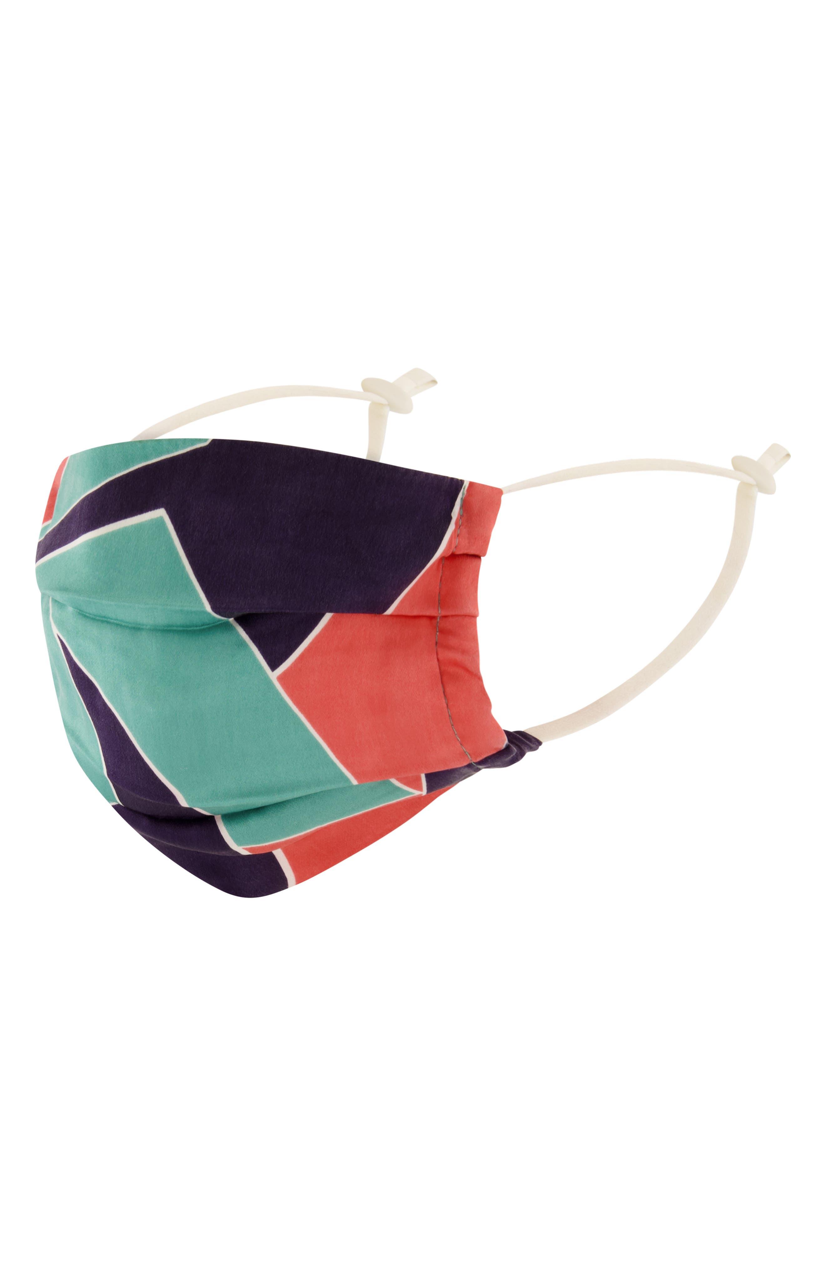 Adult Colorblock Silk Face Mask