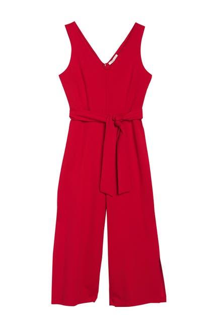 Image of TASH + SOPHIE Sleeveless Cropped Jumpsuit
