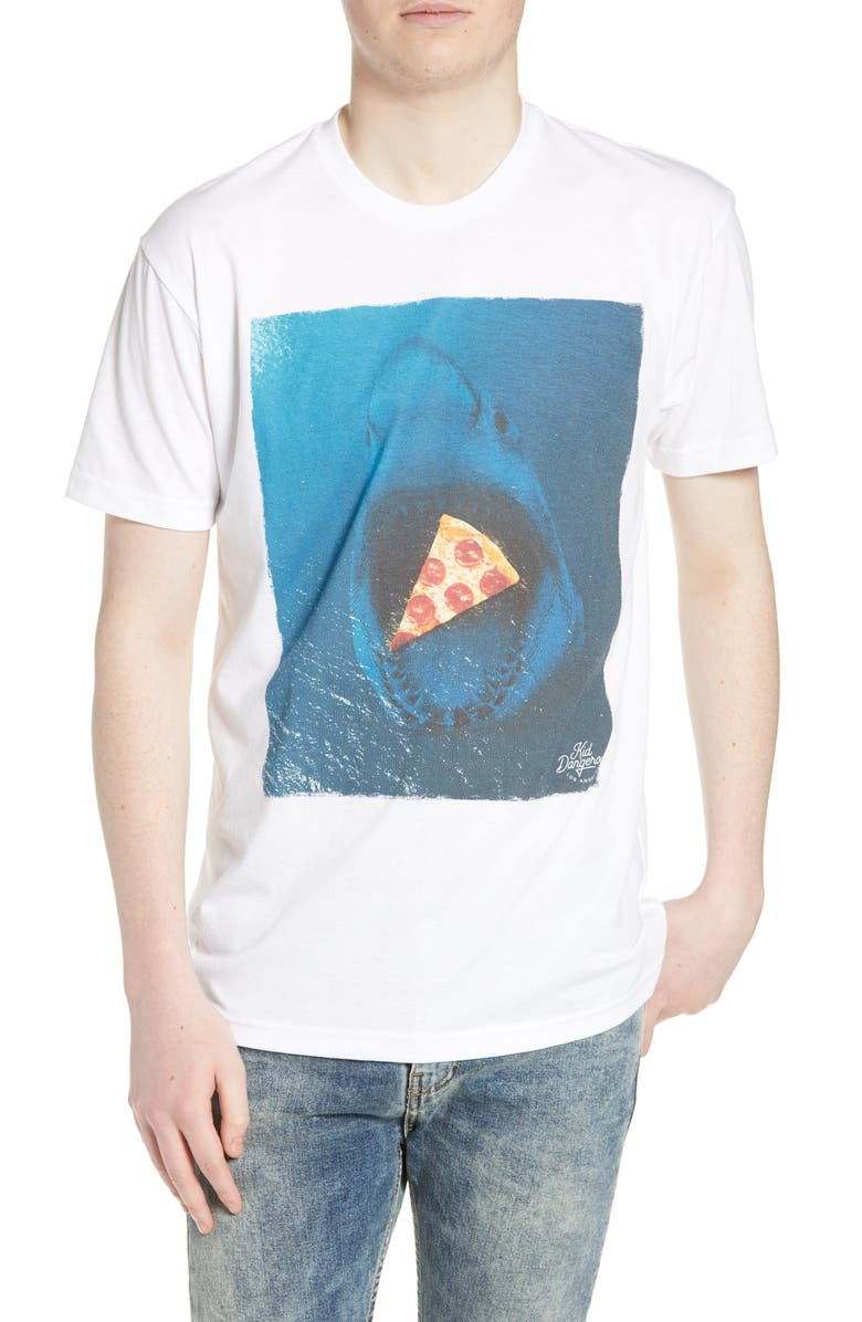 KID DANGEROUS Shark Pizza Graphic T-Shirt, Main, color, 100