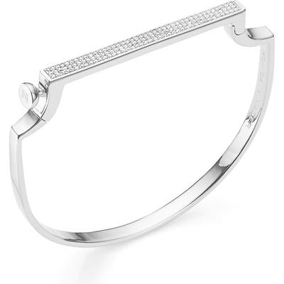 Monica Vinader Engravable Signature Thin Diamond Bangle