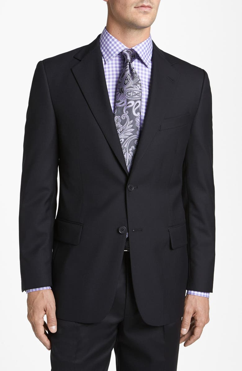 JOSEPH ABBOUD Solid Wool Blazer, Main, color, 001