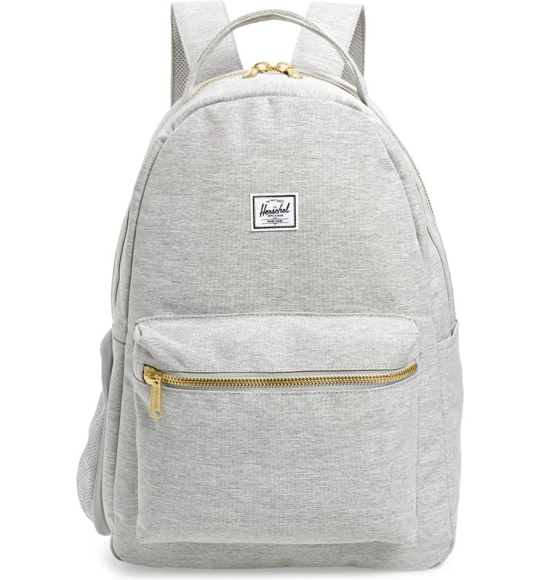 HERSCHEL SUPPLY CO. Nova Sprout Diaper Backpack, Main, color, LIGHT GREY CROSSHATCH