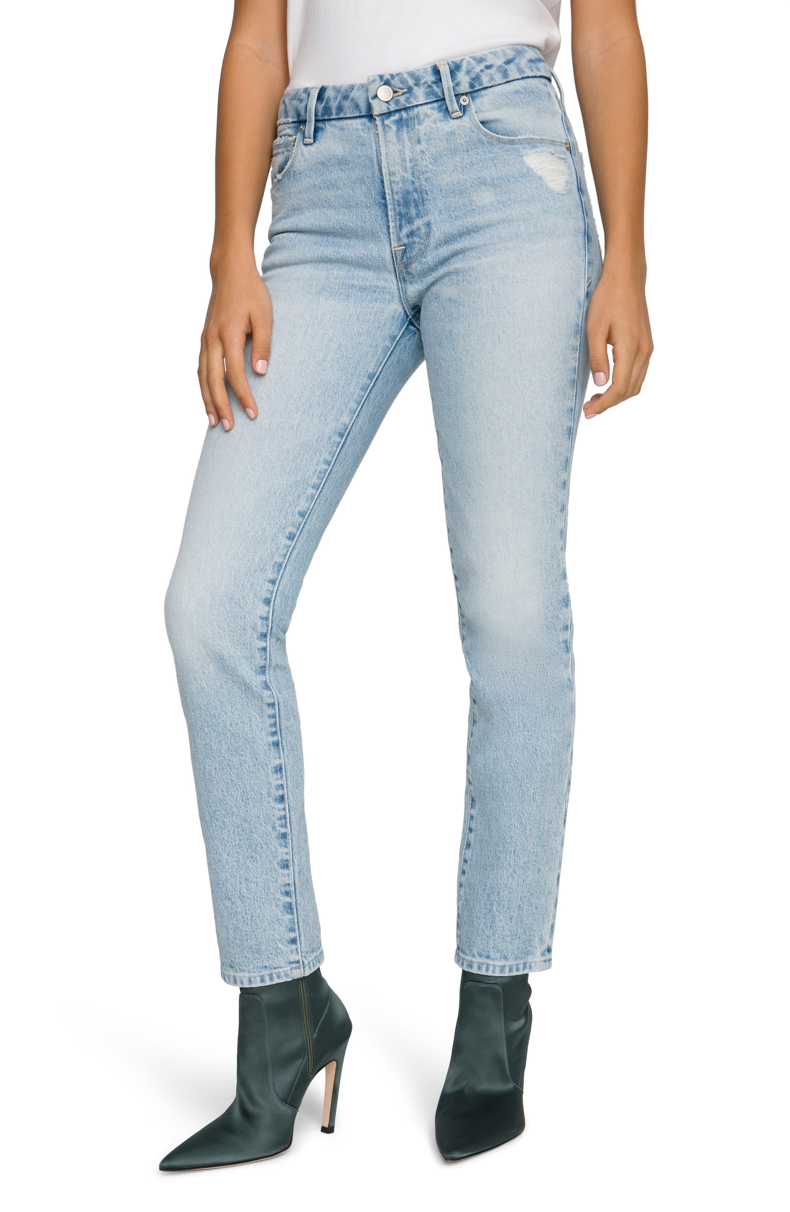 Women's Good American Good Classic Straight Leg Jeans