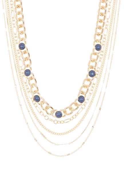 Image of Nordstrom Rack 5 Layer Curb Link Collar Necklace