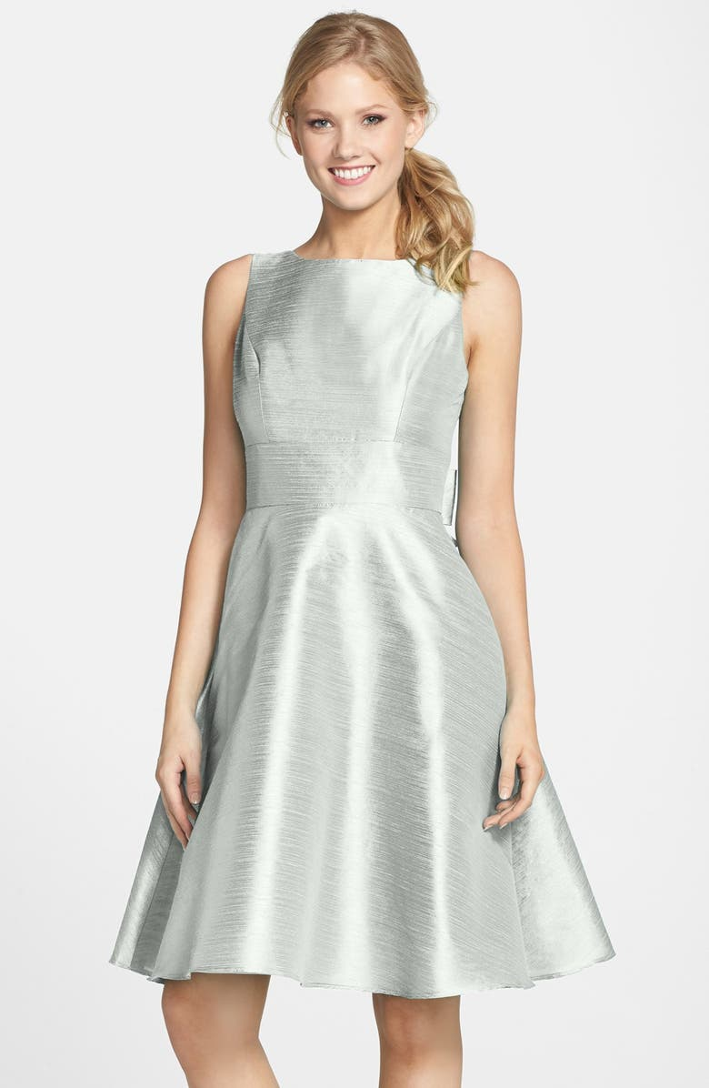 Alfred Sung Bow Back Sleeveless Dupioni Dress Nordstrom