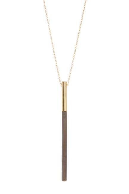 Image of Argento Vivo 18K Gold Plated Sterling Silver Linear Tube Pendant Necklace