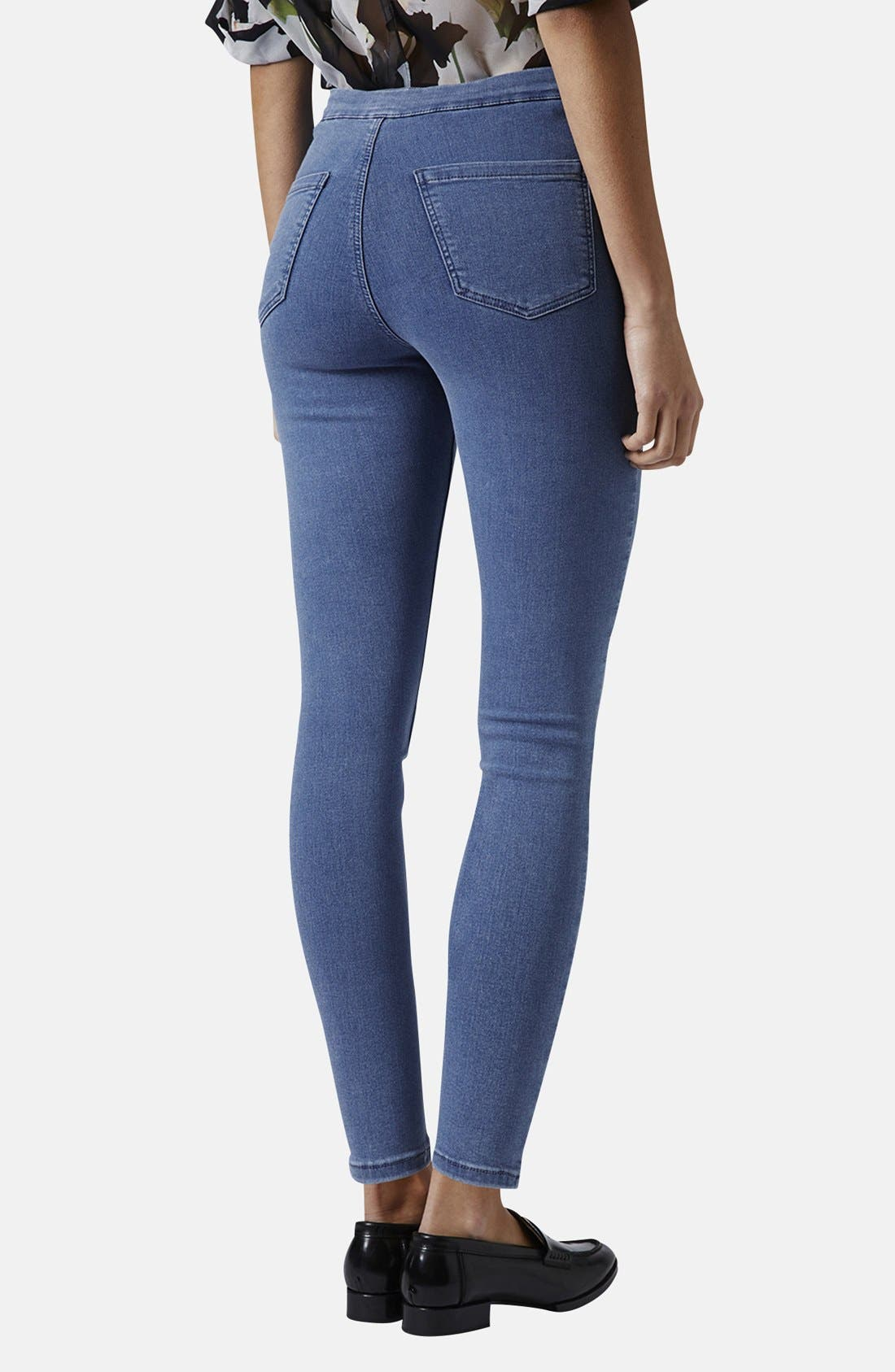 ,                             Moto 'Joni' High Rise Skinny Jeans,                             Alternate thumbnail 2, color,                             400