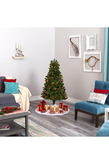 Image of NEARLY NATURAL 5ft. Rocky Mountain Spruce Artificial Christmas Tree