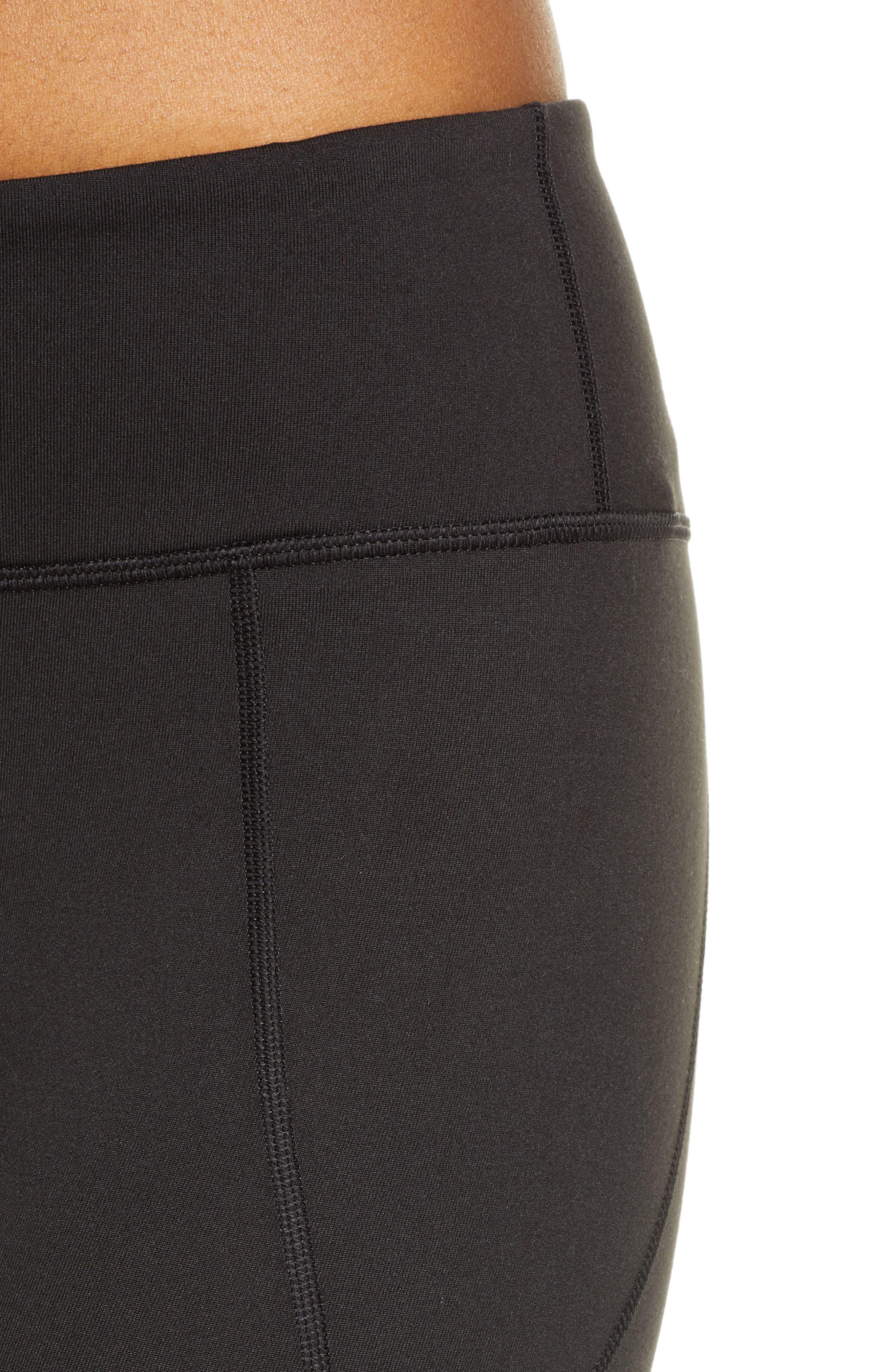 ,                             Centered Crop Leggings,                             Alternate thumbnail 5, color,                             BLACK