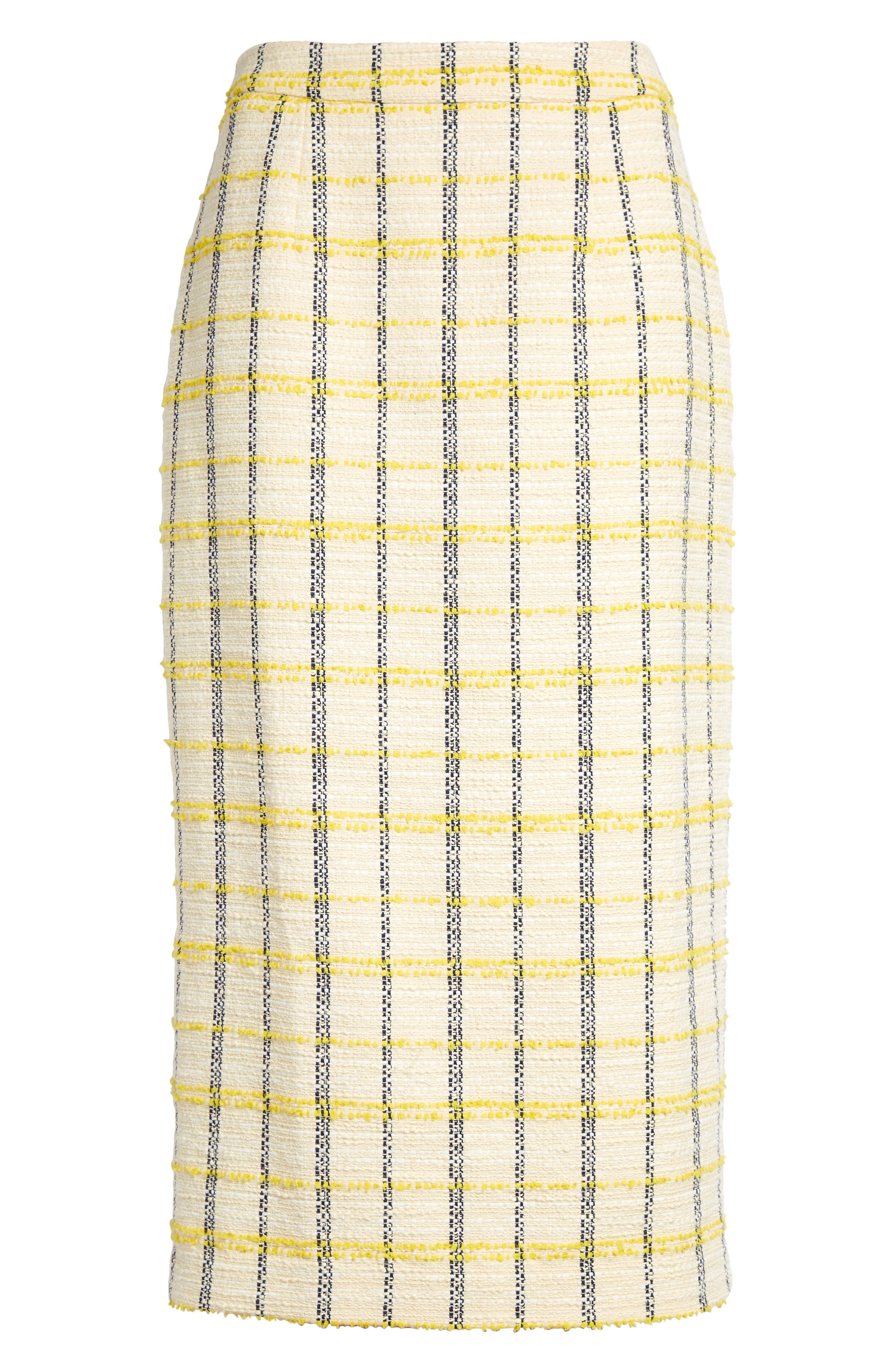Recharge your power wardrobe with this figure-elongating suit skirt in richly textured plaid tweed. Style Name: Halogen Plaid Tweed Pencil Skirt (Regular & Petite). Style Number: 5976410. Available in stores.