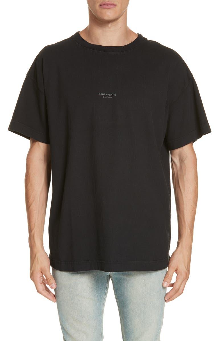ACNE STUDIOS Logo Graphic T-Shirt, Main, color, BLACK
