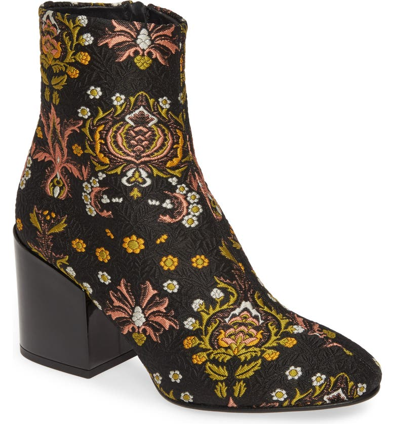 DRIES VAN NOTEN Floral Bootie, Main, color, BLACK/ MULTICOLOR