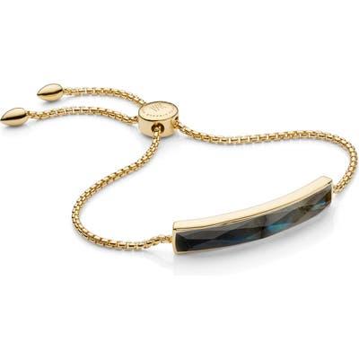 Monica Vinader Engraveable Gold Baja Facet Bracelet