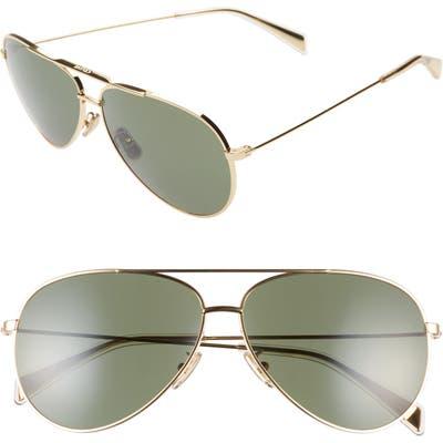 Celine Mineral 61mm Aviator Sunglasses - Shiny Gold/ Green