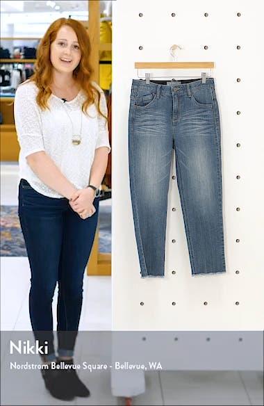 Ab-Solution Frayed Hem Crop Slim Jeans, sales video thumbnail