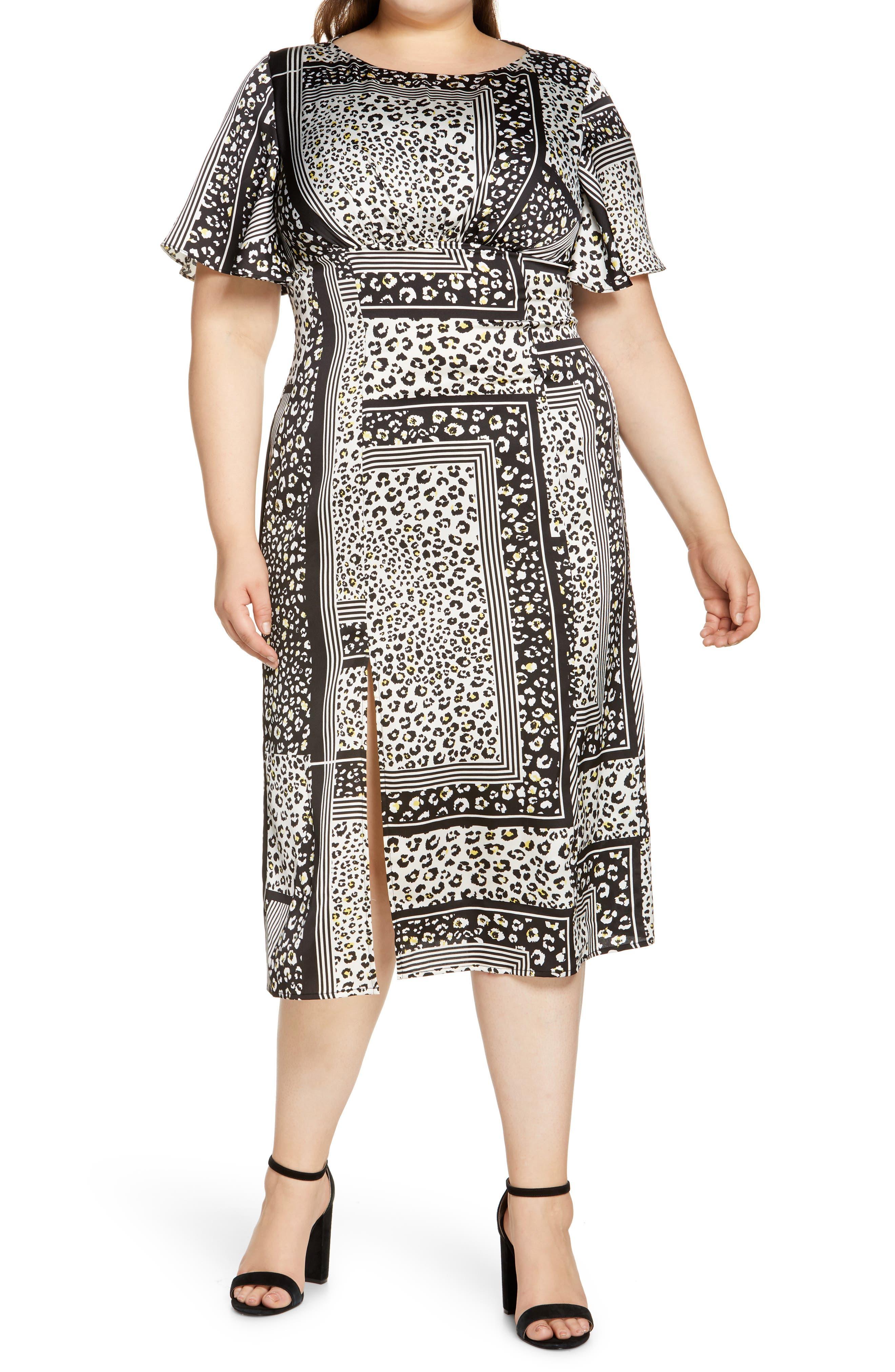 Curve Vida Mix Animal Print Dress