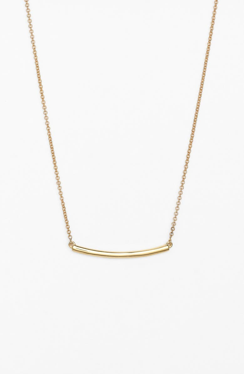 BONY LEVY Bar Pendant Necklace, Main, color, YELLOW GOLD
