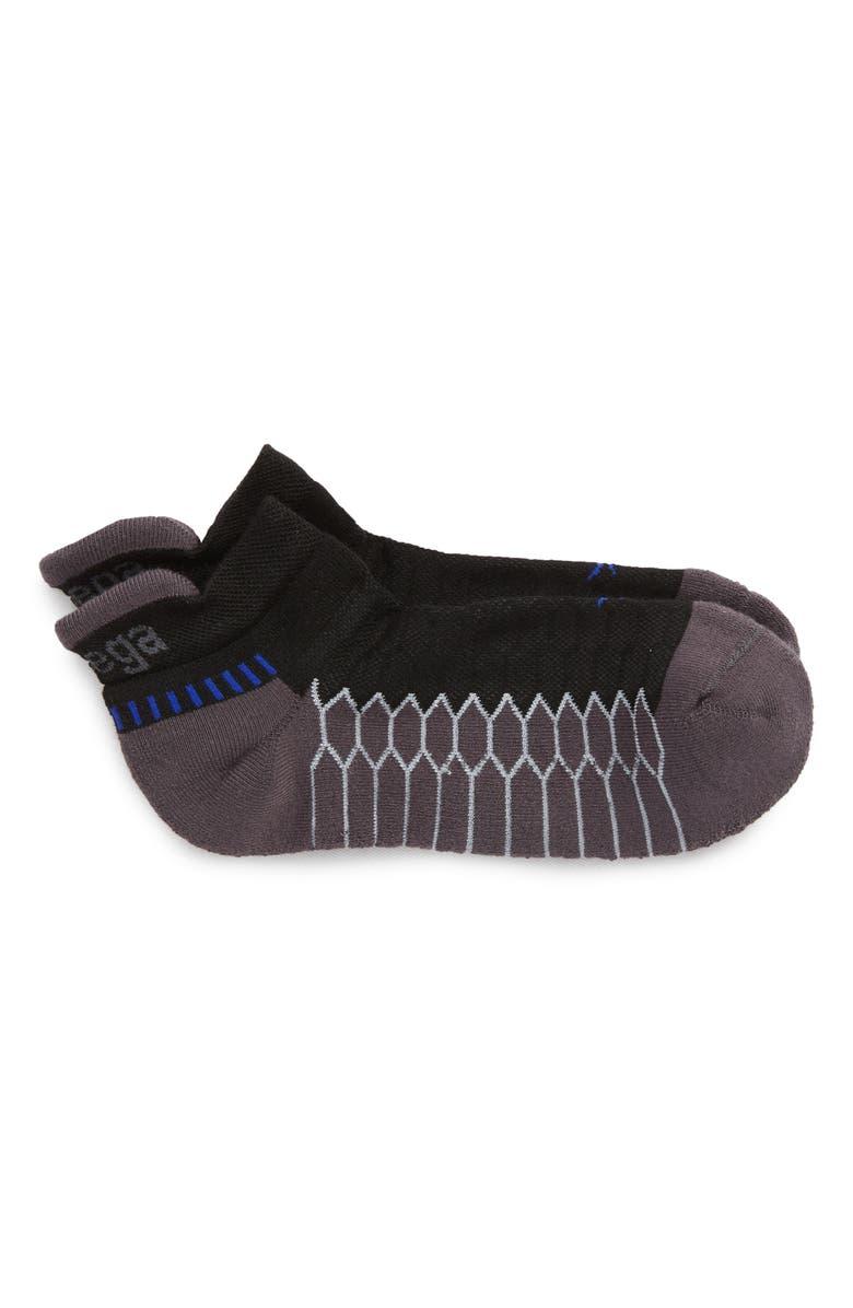 BALEGA Silver Socks, Main, color, BLACK/ CARBON