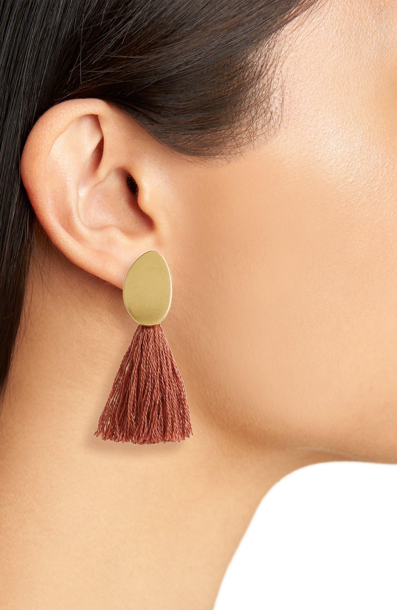 ,                             Curved Tassel Earrings,                             Alternate thumbnail 5, color,                             219