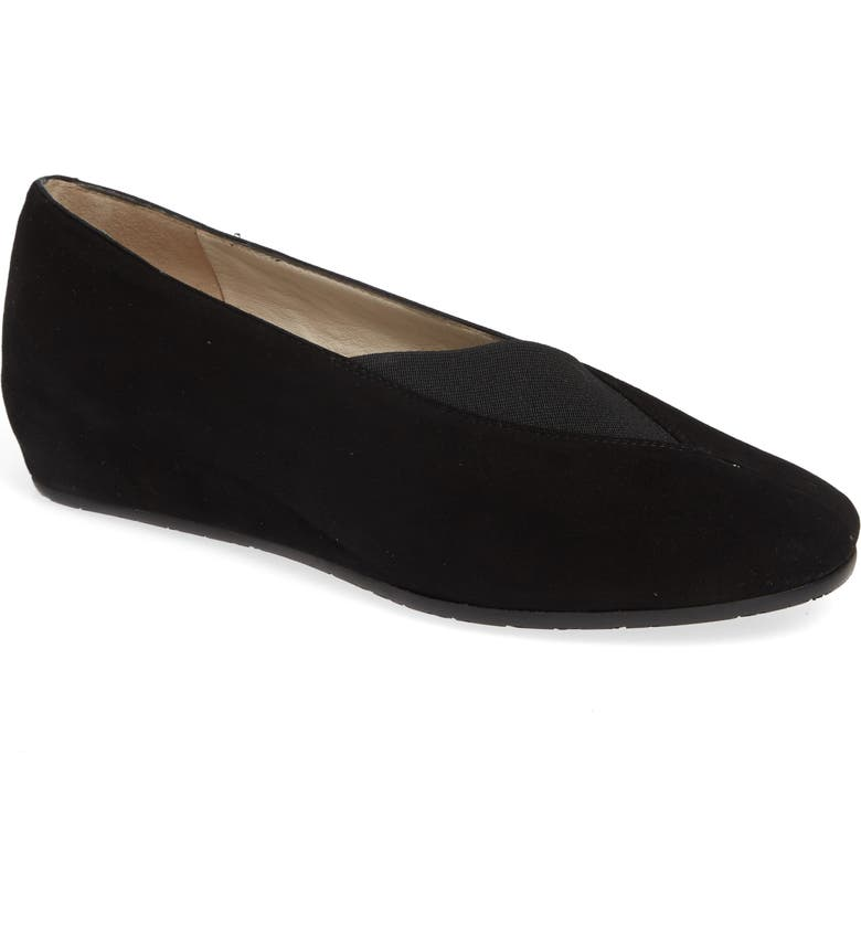 AMALFI BY RANGONI Veloce Flat, Main, color, BLACK SUEDE