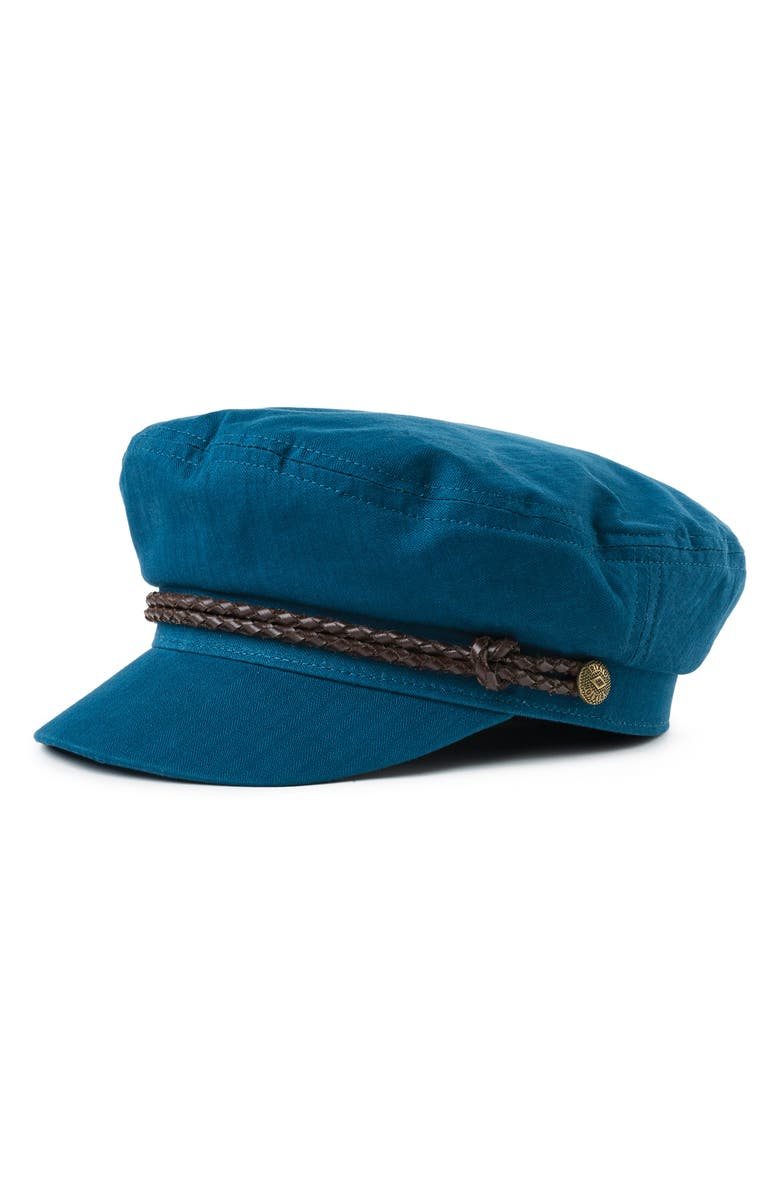 BRIXTON Ashland Fisherman Cap, Main, color, ORION BLUE/ BROWN