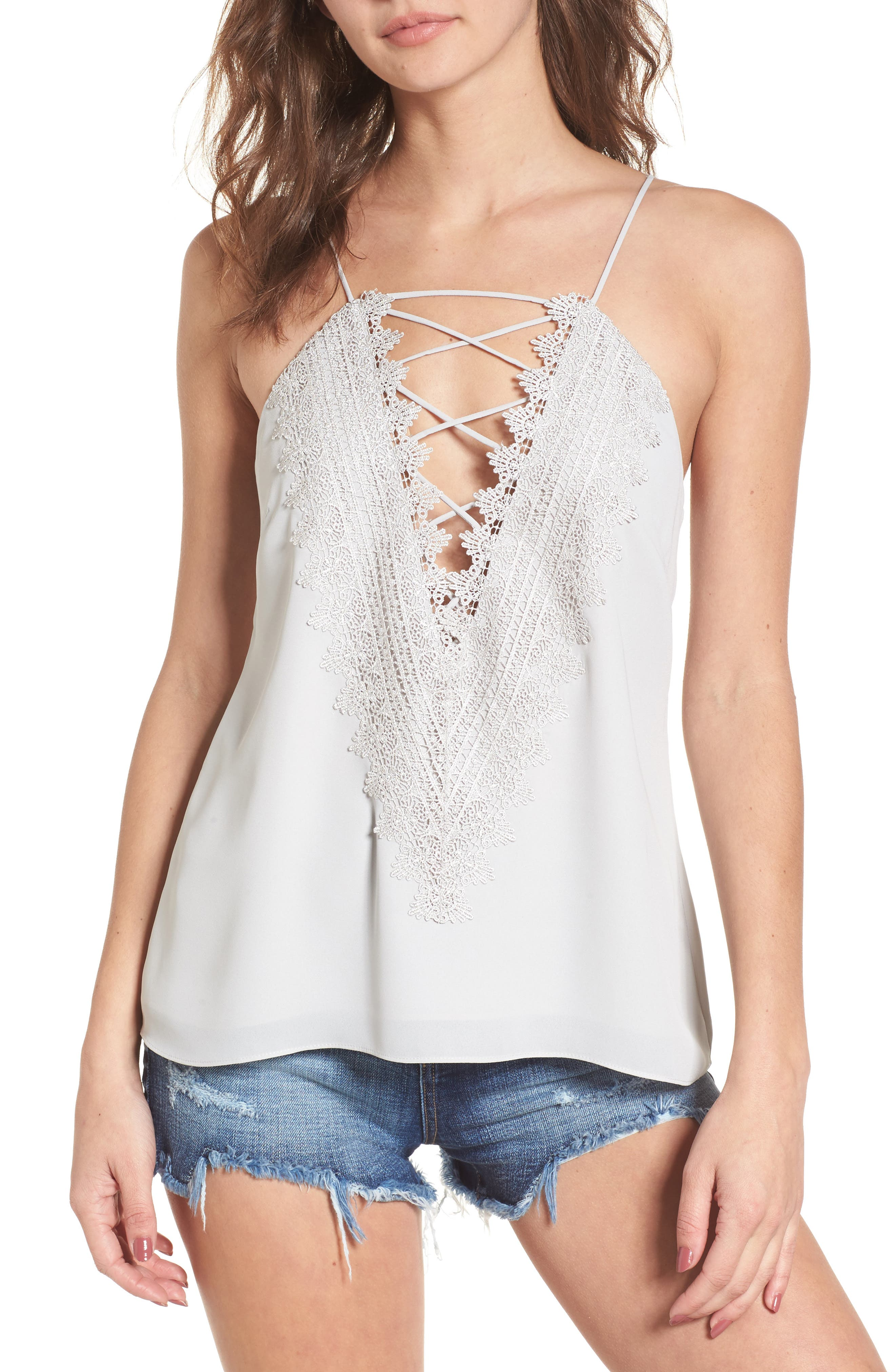 ,                             Posie Strappy Camisole,                             Main thumbnail 50, color,                             020