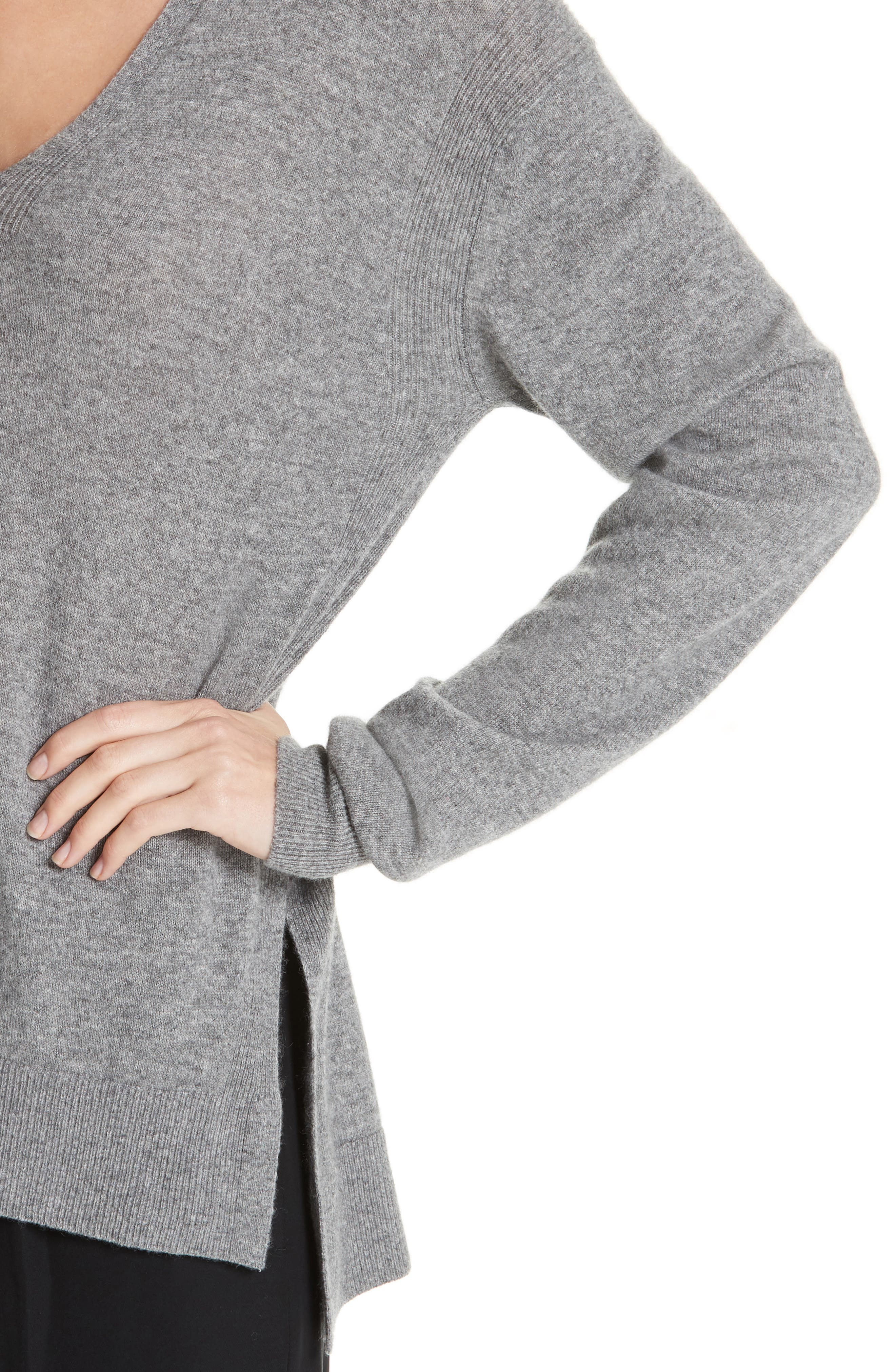 ,                             Wool & Cashmere V-Neck Sweater,                             Alternate thumbnail 4, color,                             062