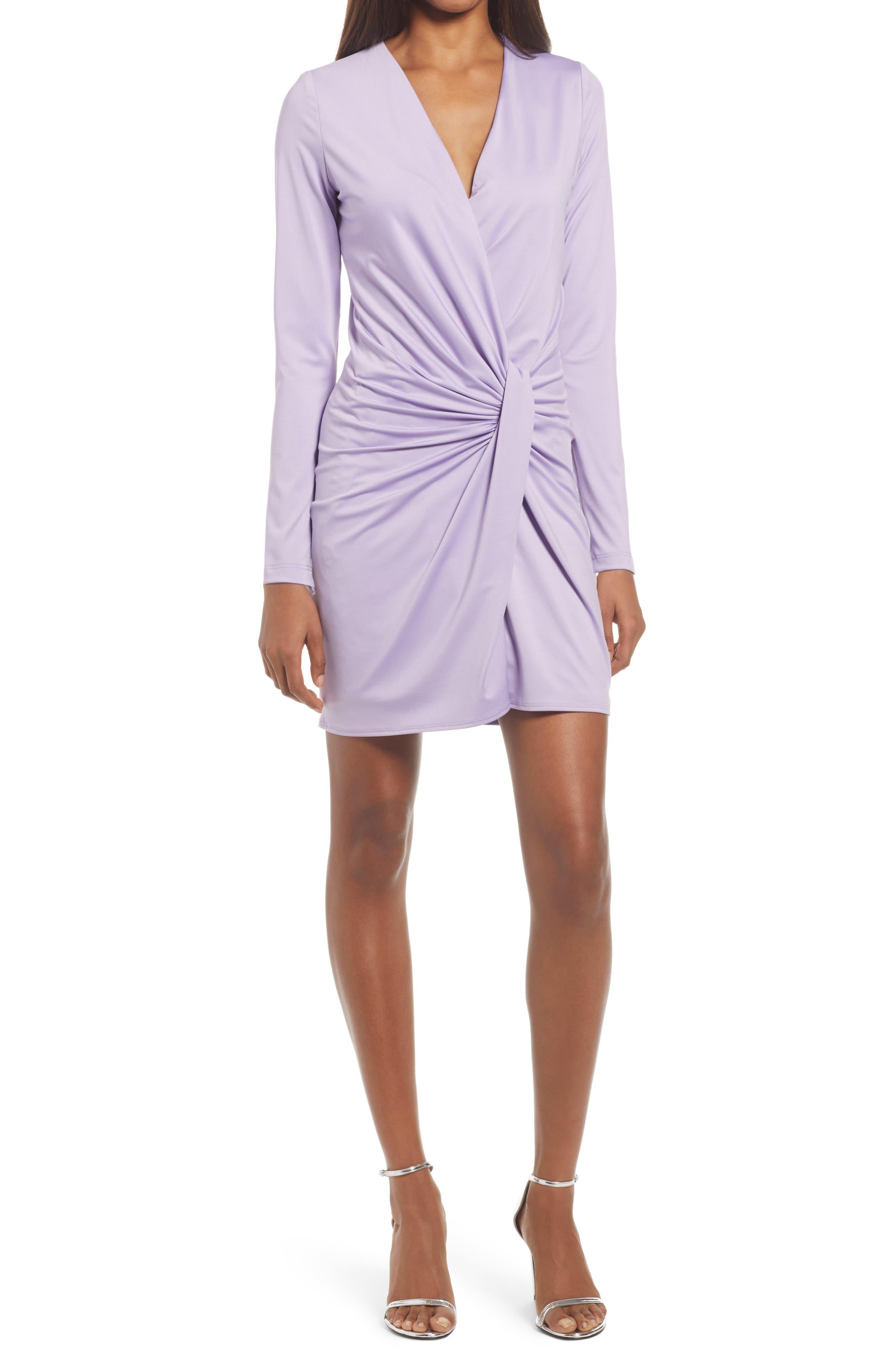 Abina Ruched Long Sleeve Minidress