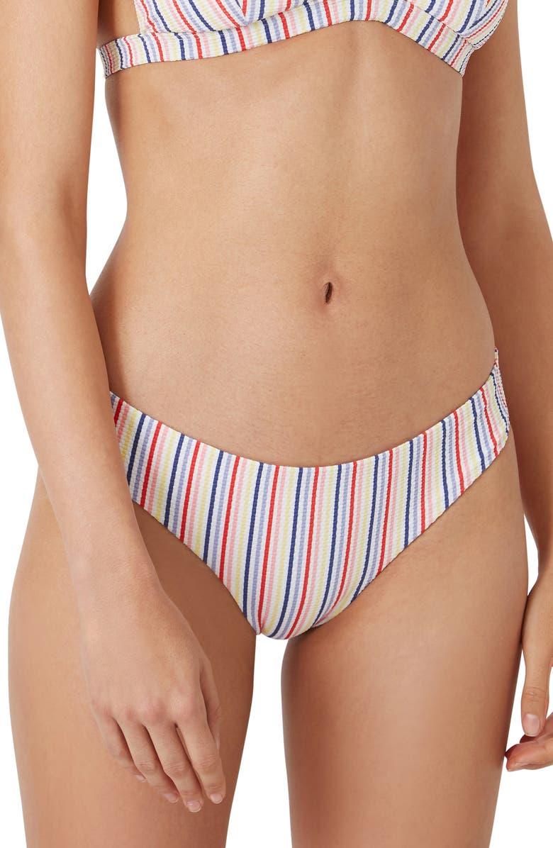 ONIA Lily Textured Bikini Bottoms, Main, color, MULTI