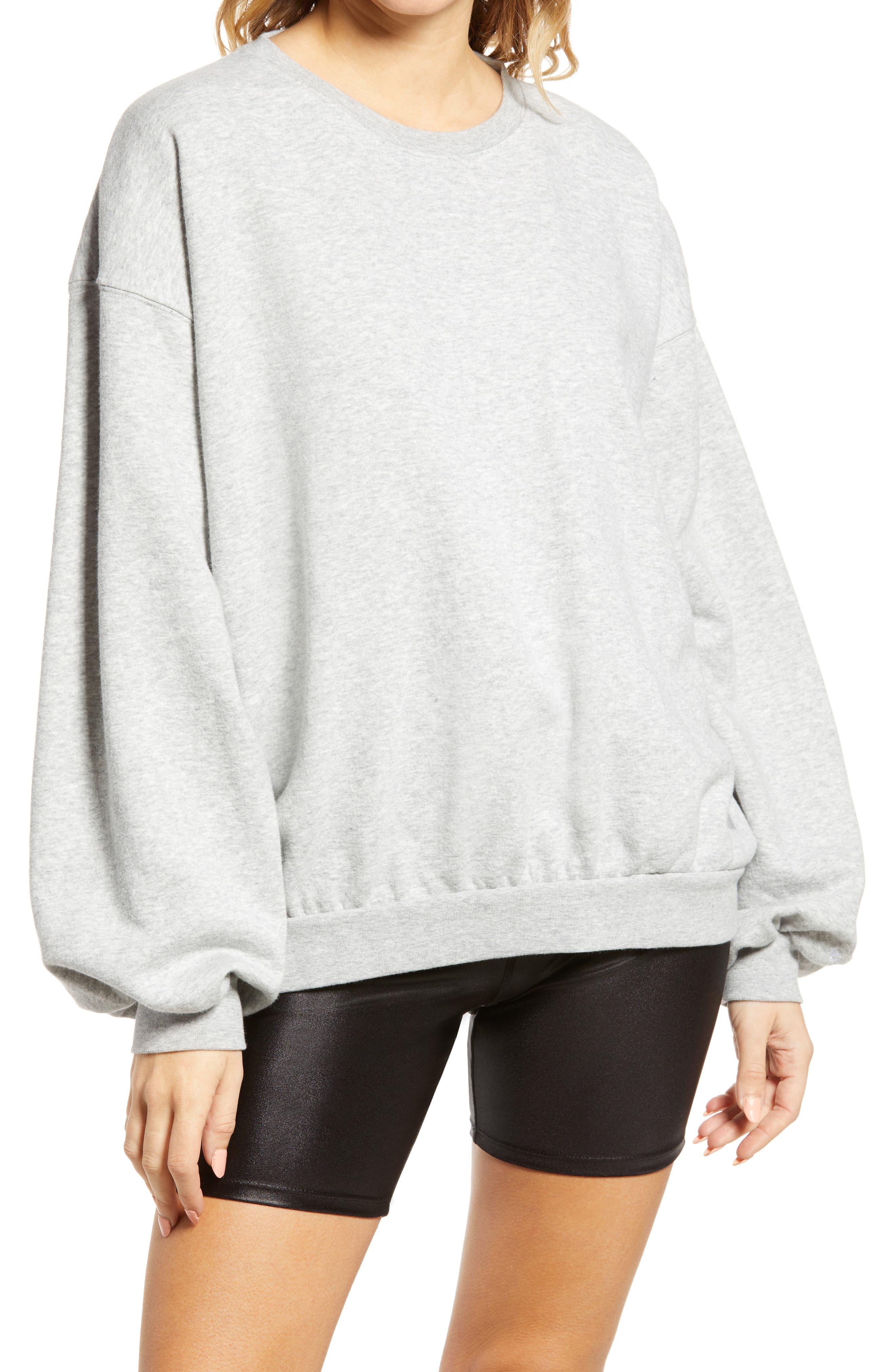 Oversize Blouson Sleeve Sweatshirt