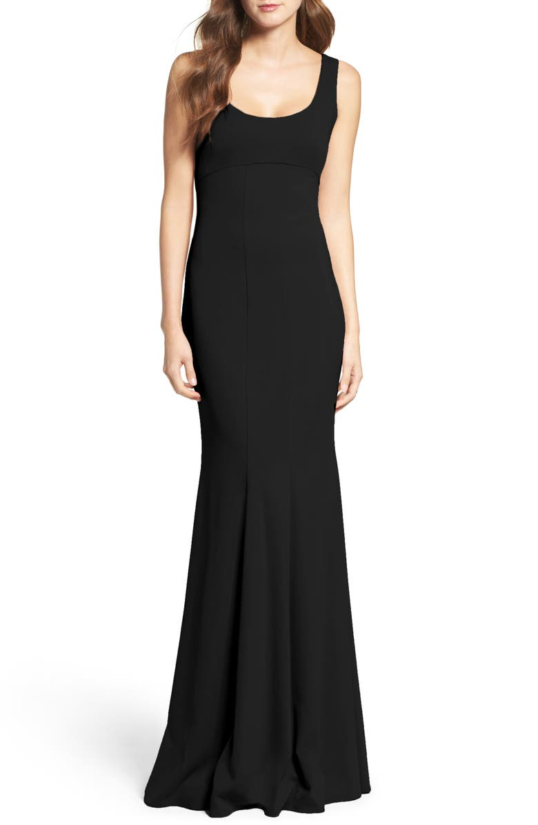KATIE MAY Westward Stretch Crepe Gown, Main, color, 001