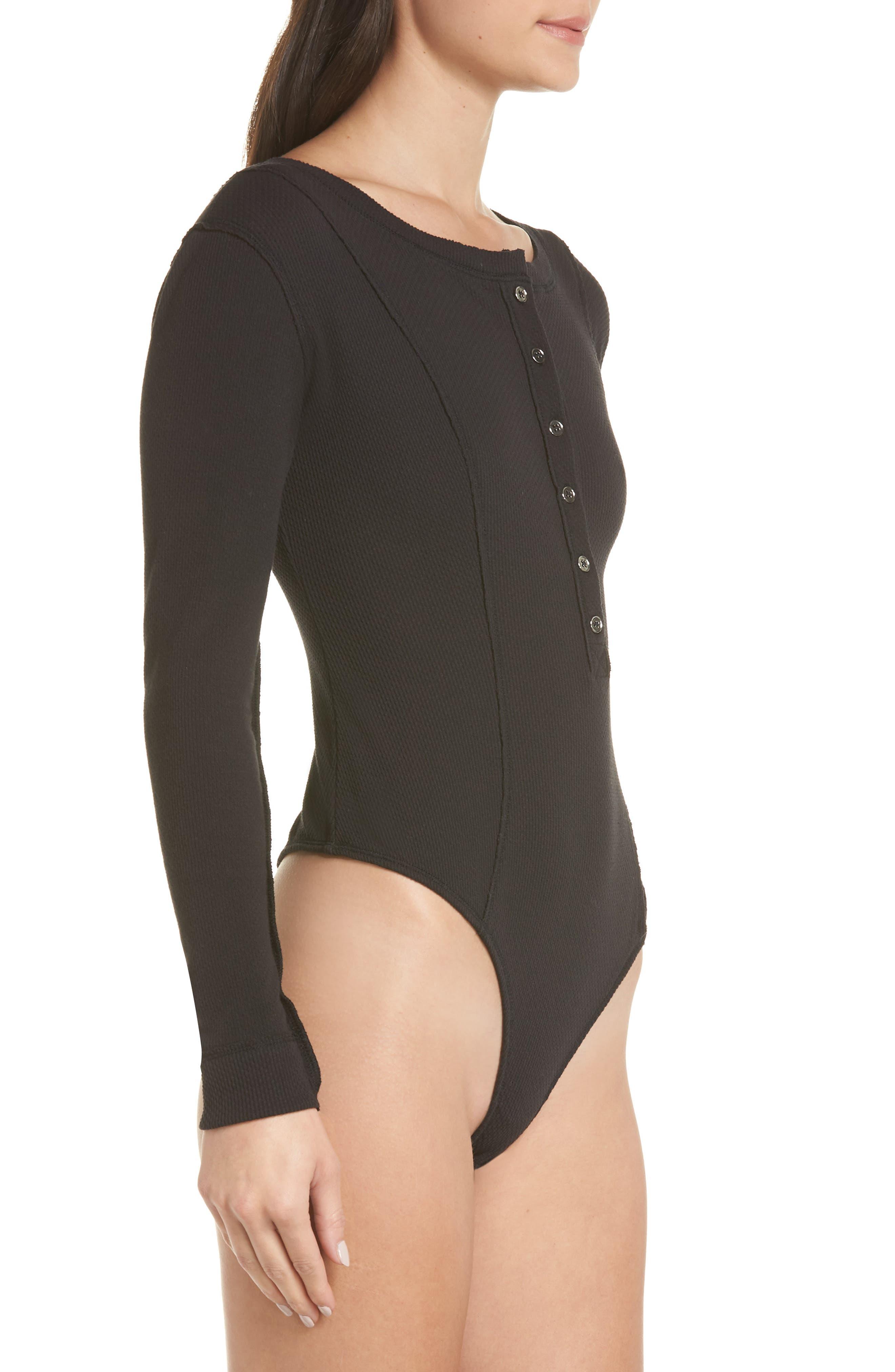 ,                             Intimately FP Frankie Henley Thong Bodysuit,                             Alternate thumbnail 3, color,                             001