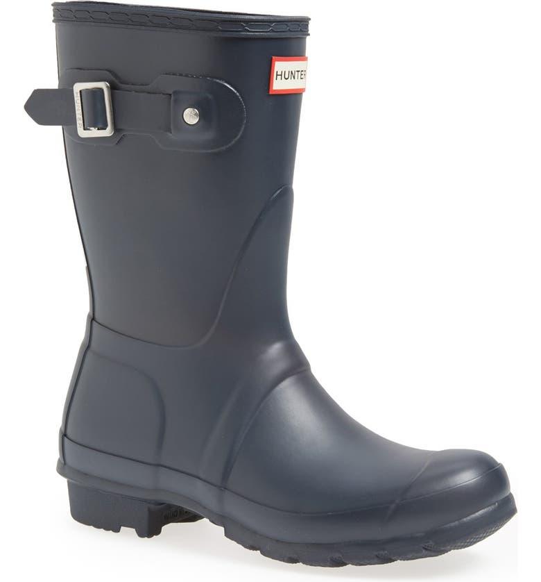 HUNTER Original Short Waterproof Rain Boot, Main, color, NAVY MATTE