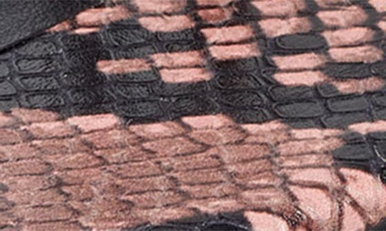 PINK SNAKE PRINT LEATHER