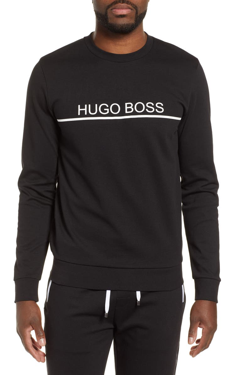 BOSS Tracksuit Sweatshirt, Main, color, BLACK