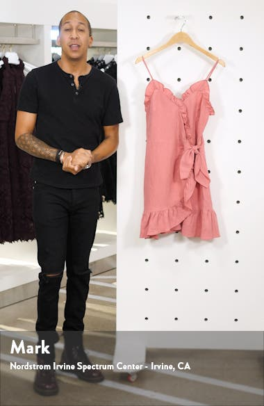 Ruffle Detail Cotton & Linen Dress, sales video thumbnail