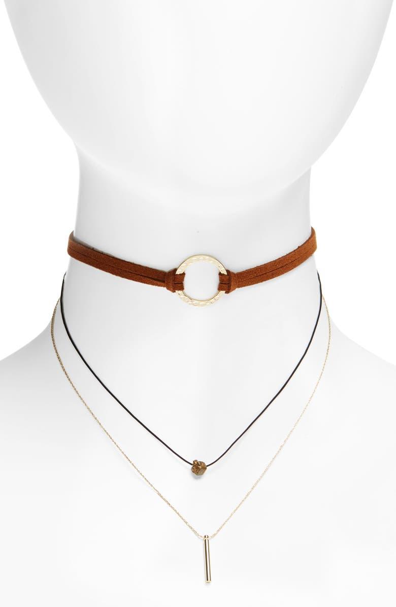 PANACEA Layered Choker Necklace, Main, color, 200