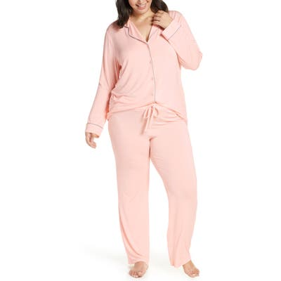 Plus Size Nordstrom Lingerie Moonlight Pajamas, Pink