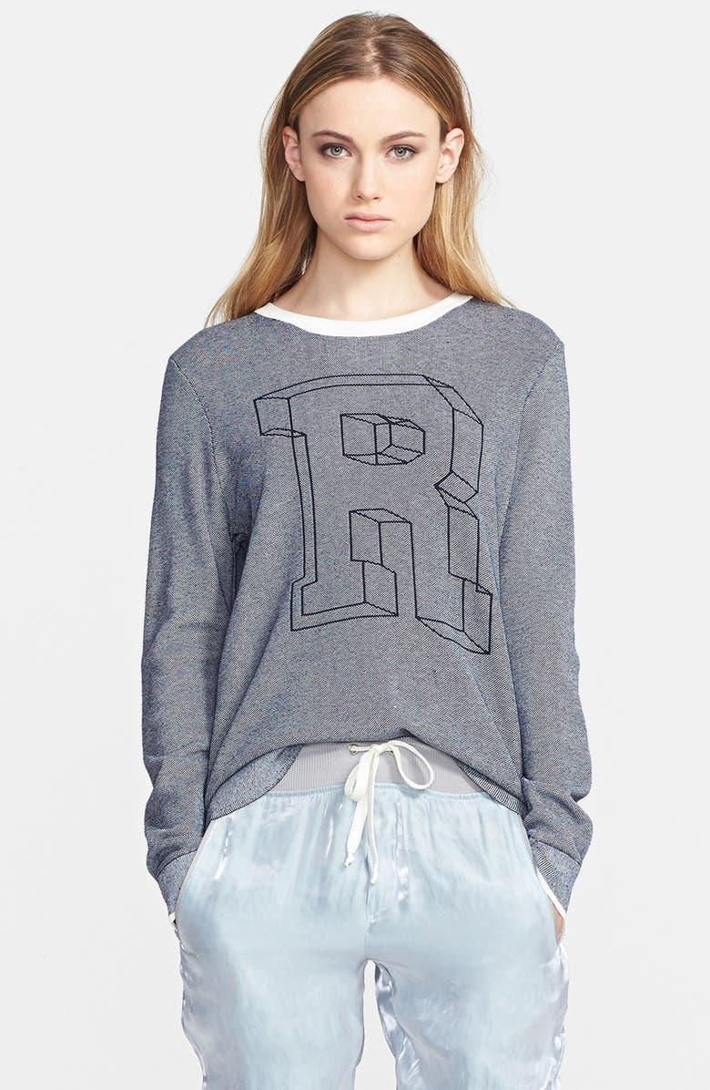 RAG & BONE 'Rina' Cotton Blend Sweater, Main, color, 410