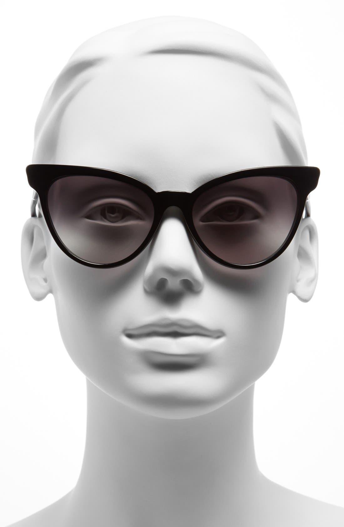 ,                             'La Femme' 55mm Sunglasses,                             Alternate thumbnail 2, color,                             001