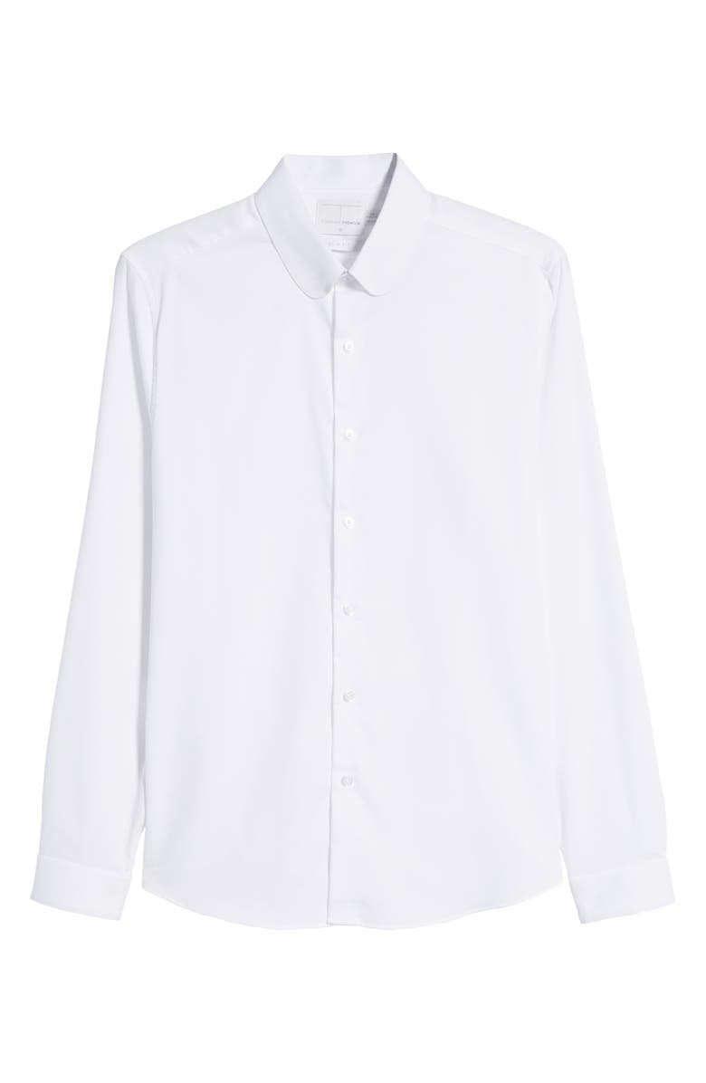 1920s Men's Dress Shirts Mens Topman Penny Collar Slim Fit Tie Bar Sport Shirt $41.98 AT vintagedancer.com