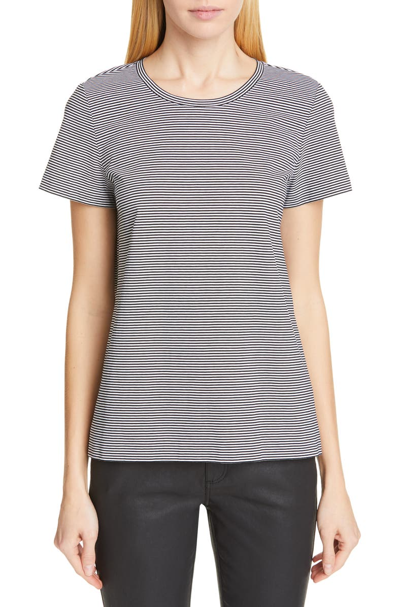 LAFAYETTE 148 NEW YORK Modern Stripe Tee, Main, color, 001