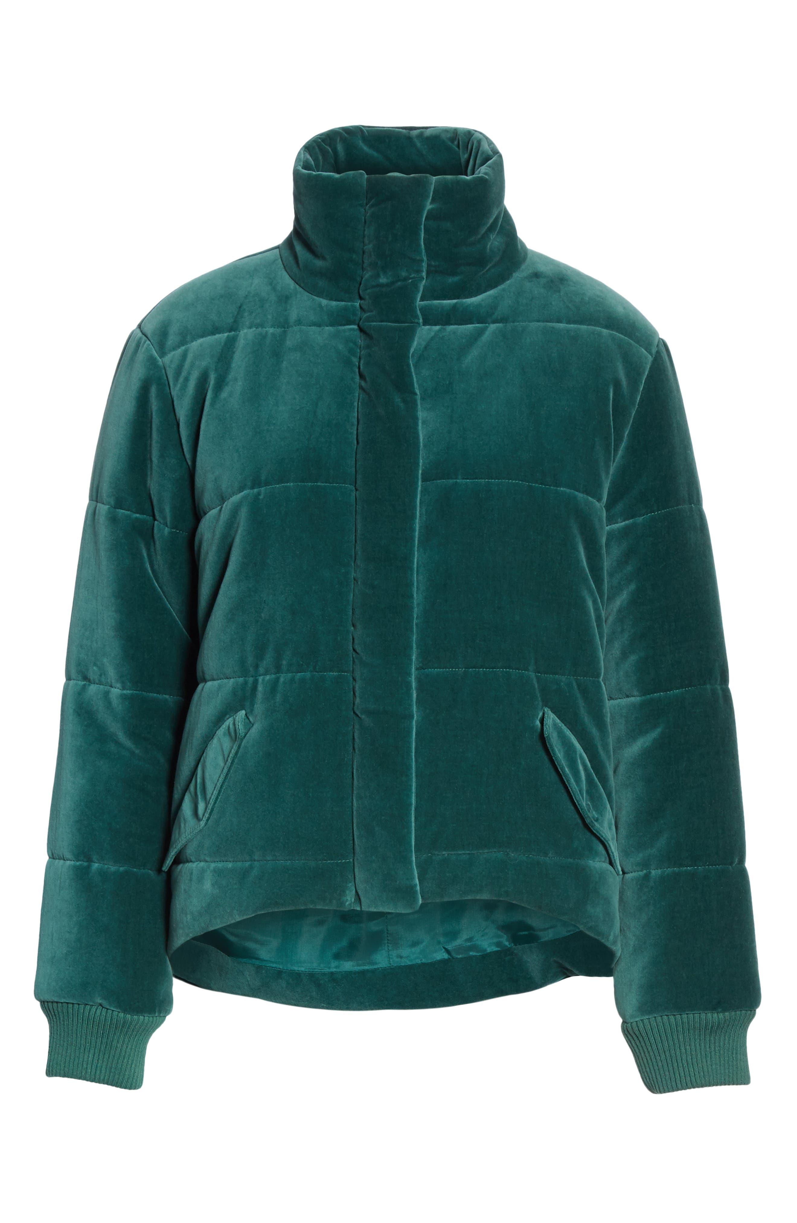 ,                             The Quilted Velvet Puffer Coat,                             Alternate thumbnail 6, color,                             300