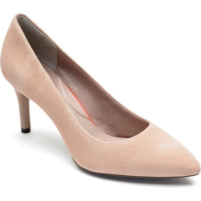 Rockport Total Motion Pointy Toe Pump, Beige
