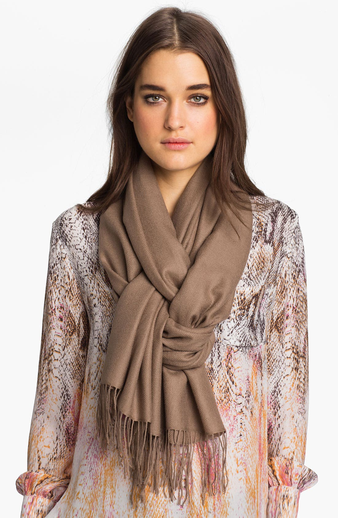 ,                             Tissue Weight Wool & Cashmere Wrap,                             Main thumbnail 24, color,                             201