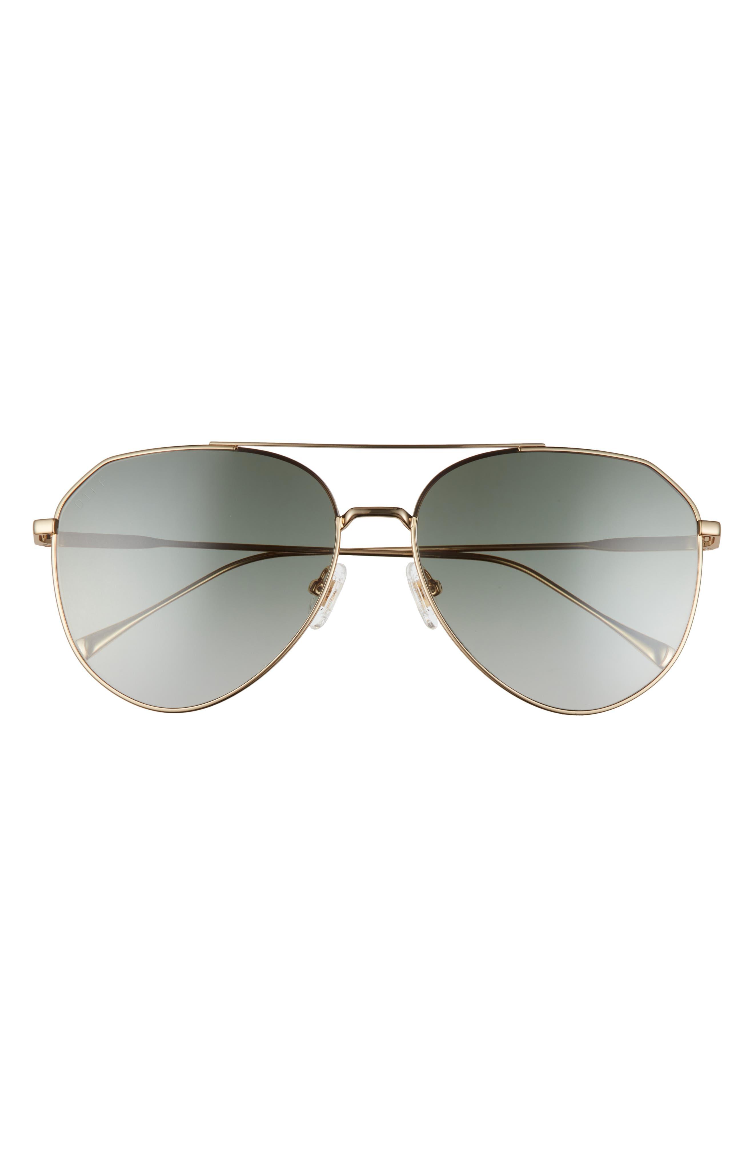 Dash 60mm Polarized Aviator Sunglasses