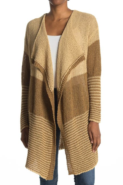 Image of STITCHDROP Striped Knit Cardigan