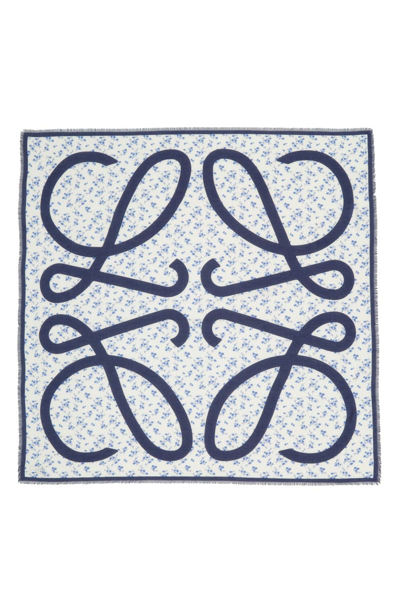 LOEWE Flower Scarf, Main, color, BLUE